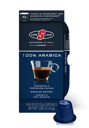 MISCELA 100% ARABICA by ESSSE CAFFE comp. NESPRESSO pz.100  DOLCE E SOAVE